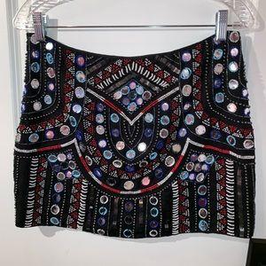 Detailed Mini Skirt